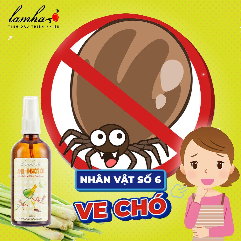 Ve chó tinh dầu chống côn trùng