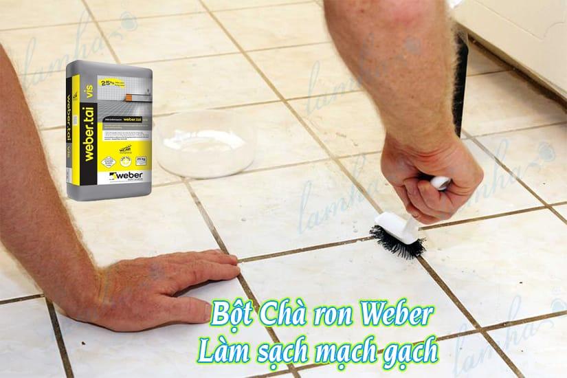 Bột Chà ron Weber chịt sạch mạch gạch lát nền nhà tắm