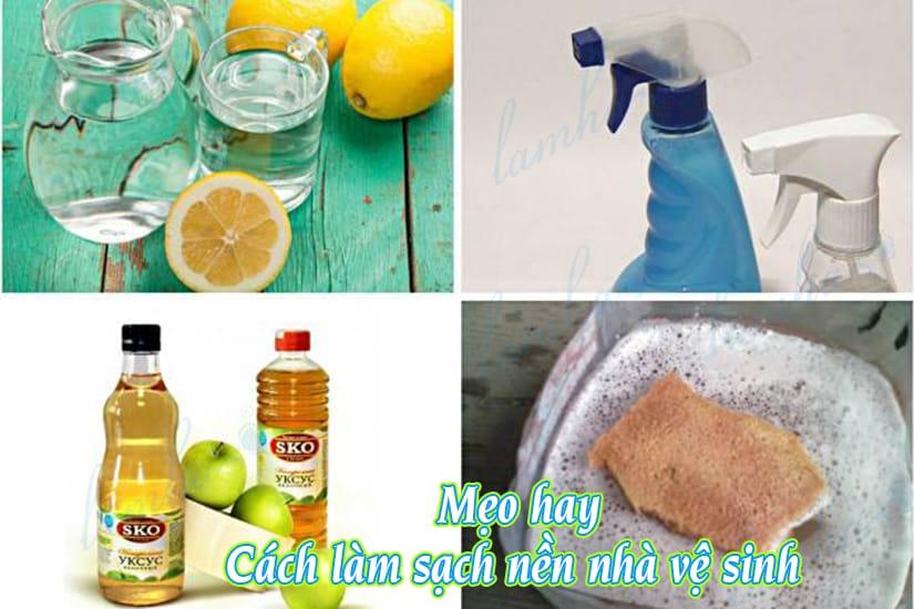 Mẹo hay cách làm sạch nền nhà vệ sinh