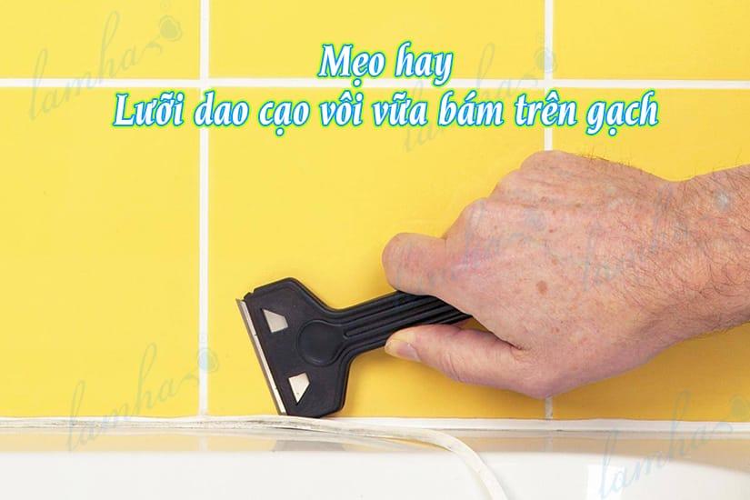 cách dùng dao cạo vôi vữa