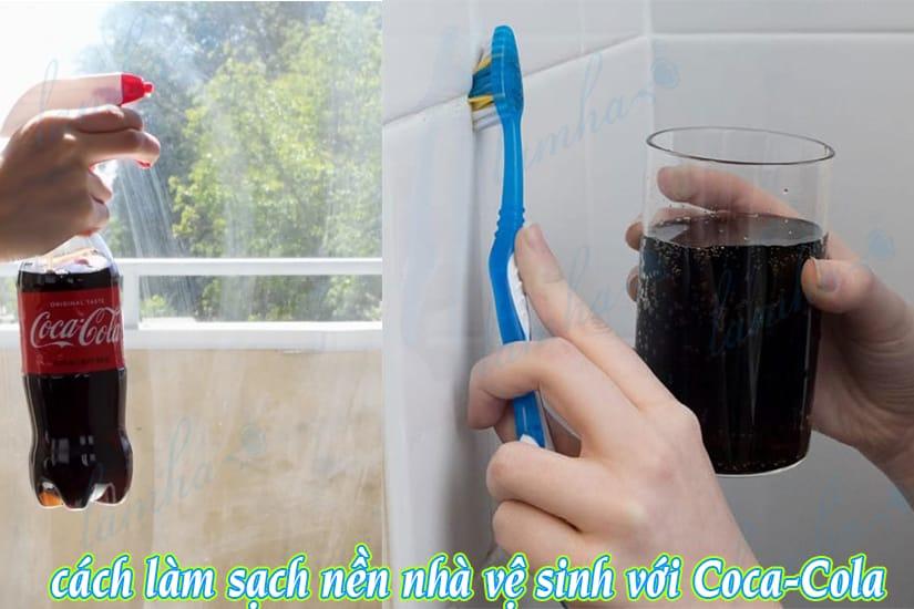 cách làm sạch nền nhà vệ sinh bằng coca-cola