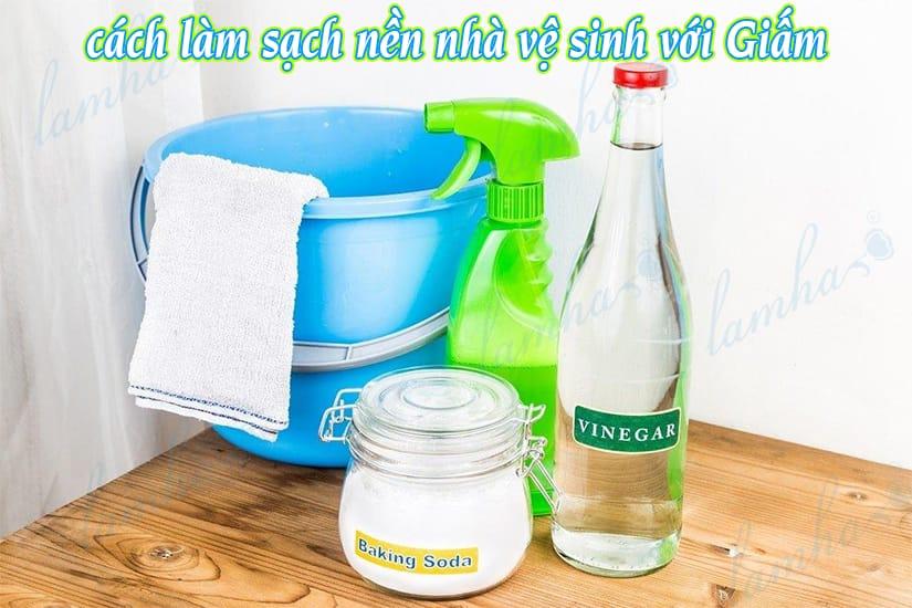 cách làm sạch nền nhà vệ sinh bằng Giấm